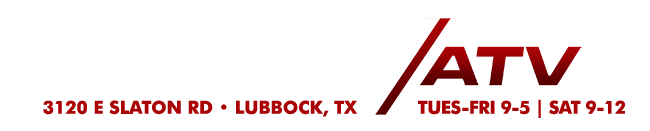 Lubbock's place for Hand-Picked & Inspected used ATVs & UTVs